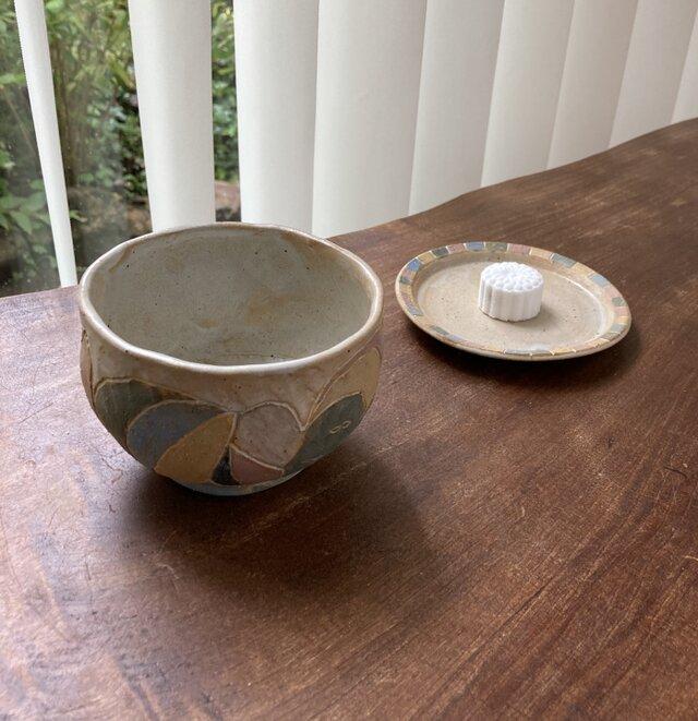 抹茶茶碗とお皿セットの画像1枚目