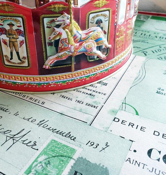 ●クリスマス限定●1930年代 franceのパピエ8枚setの画像1枚目