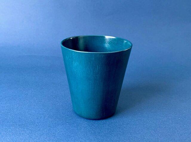 【Snow blue】青漆タンブラー(マロニエ)漆器の画像1枚目