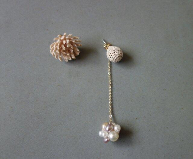 ohana & pearl * nude pink / 受注生産の画像1枚目