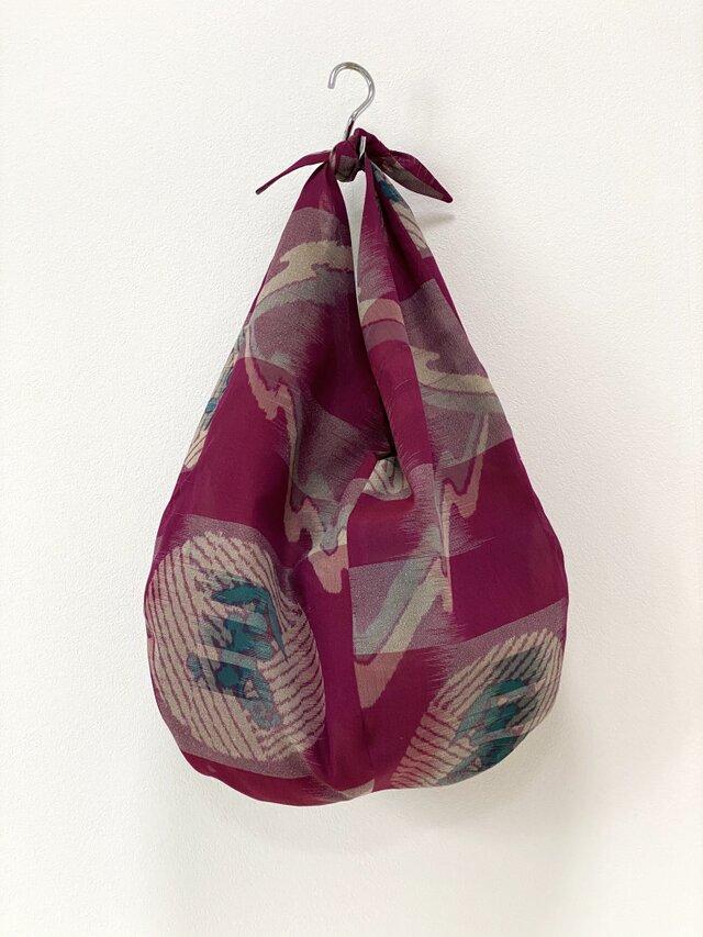 葡萄柄紗の大きめあずま袋の画像1枚目