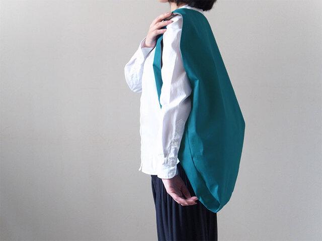 Bicolor Cloth Bag (ターコイズブルー):カレン クオイルの画像1枚目