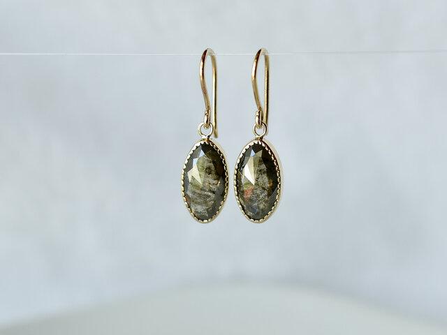 Ombre Diamond Earrings Long Ovalの画像1枚目