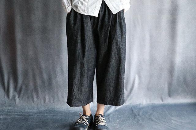 綿麻デニムバルーンパンツの画像1枚目
