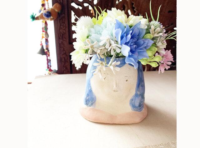 【オーダー】 花瓶フラワーポット胸像の画像1枚目
