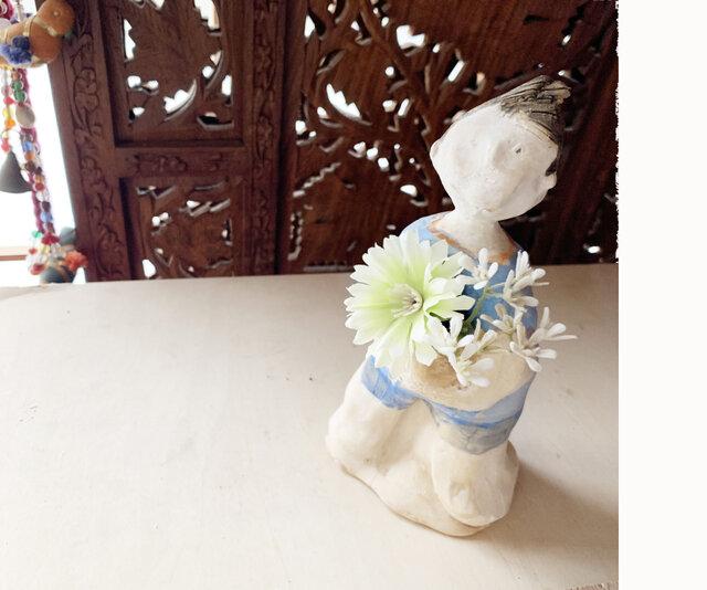 【オーダー送料無料】 花瓶フラワーポット全身像の画像1枚目