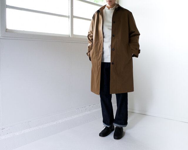 ステンカラーコート/brownの画像1枚目