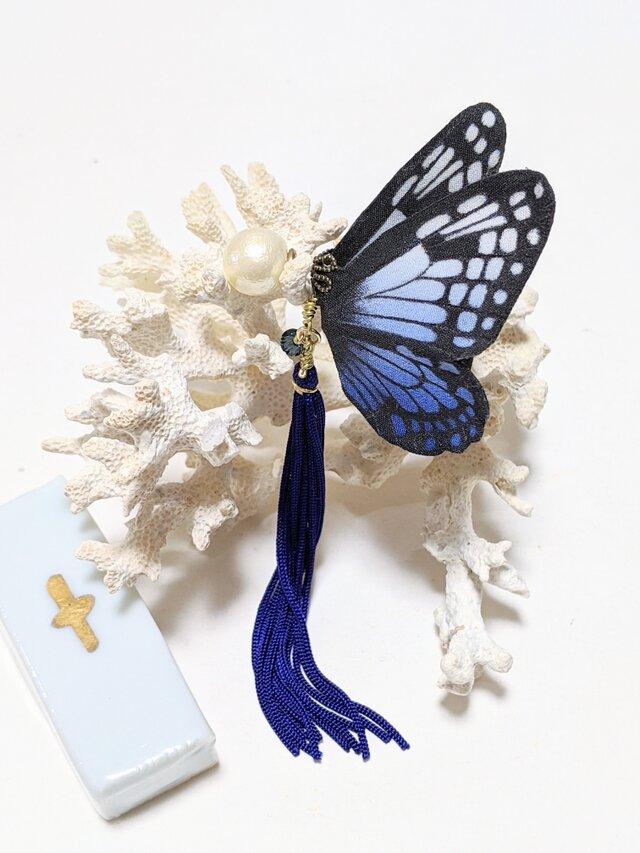 蝶のピアス(大)アサギマダラの画像1枚目