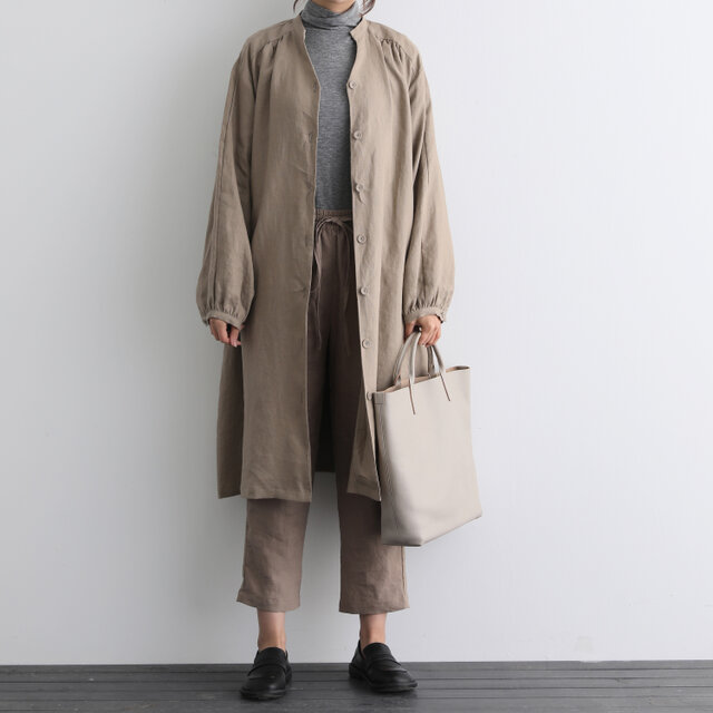 ふんわり着たい、秋色羽織り ワンピース ベルト付き 長袖ワンピース 三色200910-2の画像1枚目