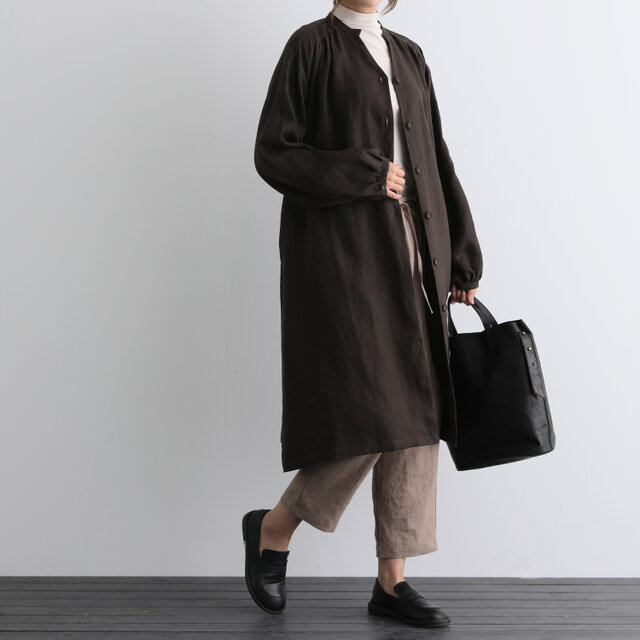 ふんわり着たい、秋色羽織り ワンピース ベルト付き 長袖ワンピース 三色200910-3の画像1枚目