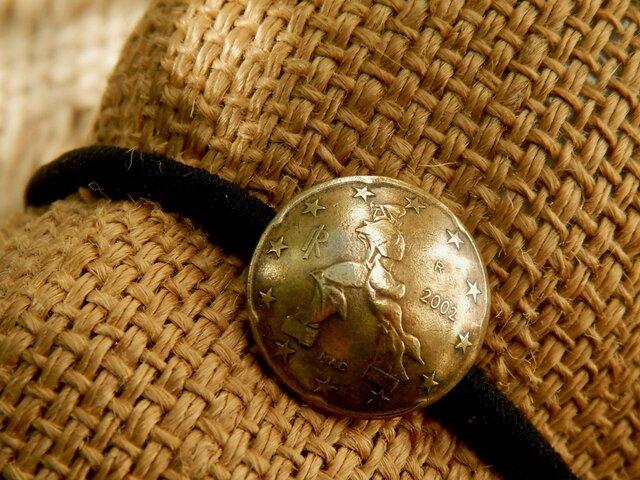 #H155  Italian Coin Hair Elasticの画像1枚目