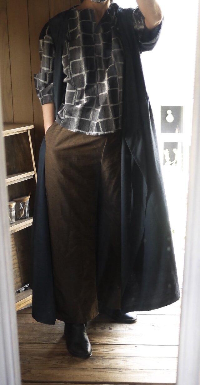 正絹反物からワイドパンツの画像1枚目