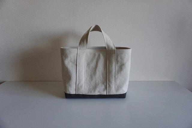 TOTE BAG -bicolor- (M) / ecru × graybrownの画像1枚目