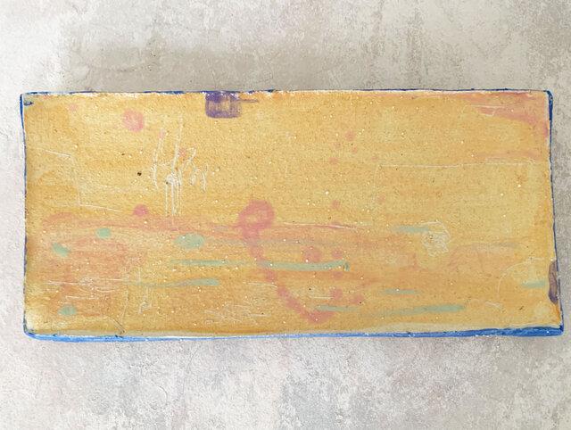 26cm長皿 魚皿 秋刀魚皿 オレンジの画像1枚目