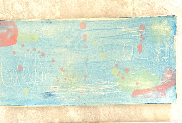 26cm長皿 魚皿 秋刀魚皿 水色の画像1枚目