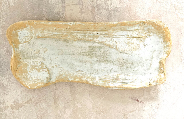 27cm長皿 魚皿 秋刀魚皿 白の画像1枚目
