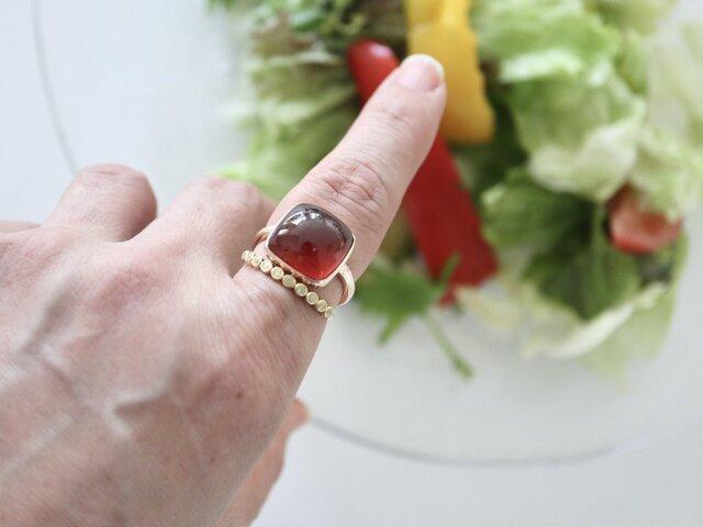 K10[ザクロワインのガーネット]ringの画像1枚目