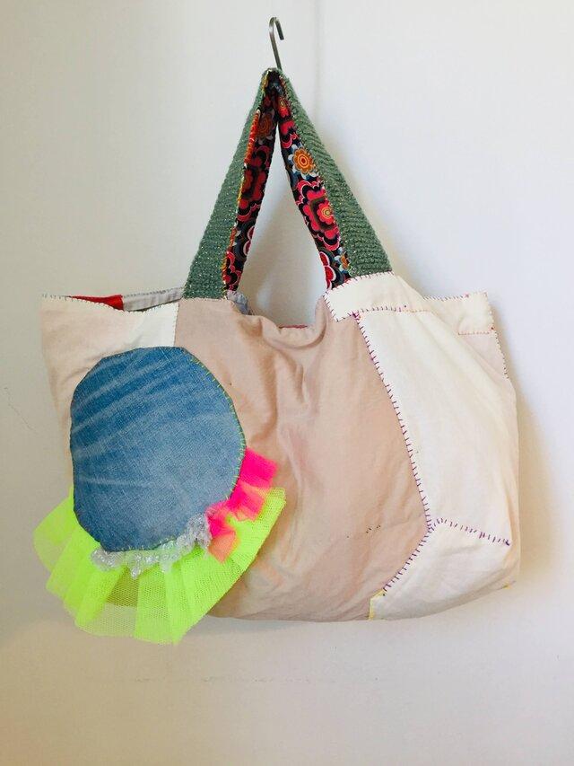 バッグ 1145 手縫いバッグ ハンドメイド 布バッグ の画像1枚目