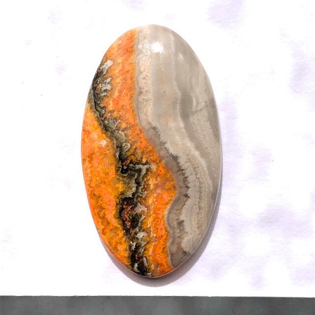 バンブルビージャスパー[108] 34Cts  ルース/天然石 / カボションの画像1枚目