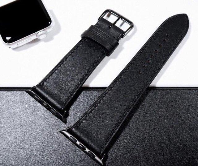 高級レザー スイフトレザー 腕時計 アップルウォッチバンド Apple Watchの革ベルトメンズ レディース 時計ベルト 皮 の画像1枚目