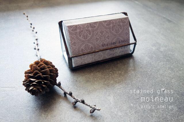 ステンドグラス【アンティーク・カードスタンド】ディスプレイ ショップカード 名刺  メモ 什器 の画像1枚目