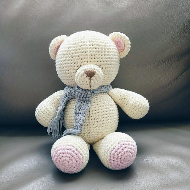 あみぐるみ くま おもちゃ 出産祝い 男の子 女の子 子供誕生日 編みぐるみ お部屋飾りの画像1枚目