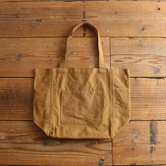 【new color】hanpu A4vertical-tote : cinnamon :の画像1枚目