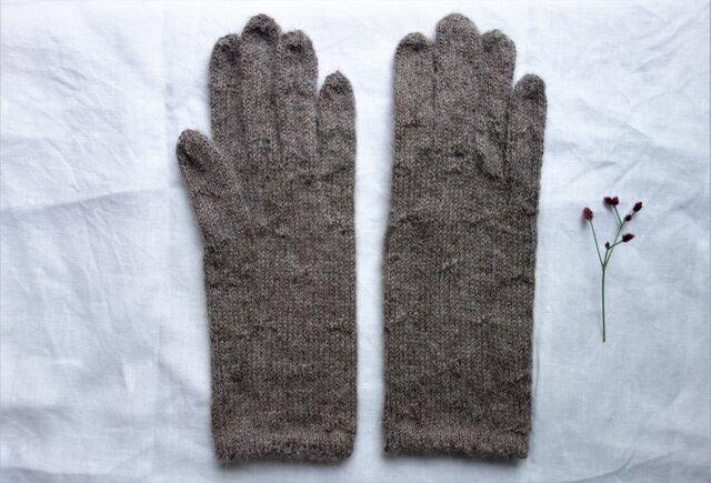 アルパカ糸の手袋/26センチの画像1枚目