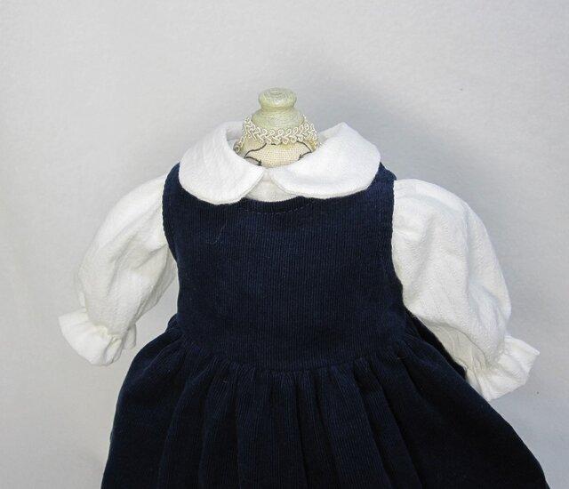 ジャンパースカート&ブラウスのセット Bタイプ ~~*小さな着せ替え人形用*~~の画像1枚目