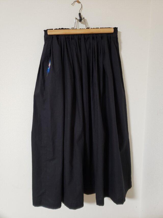 刺繍入りギャザースカート(送料込)の画像1枚目