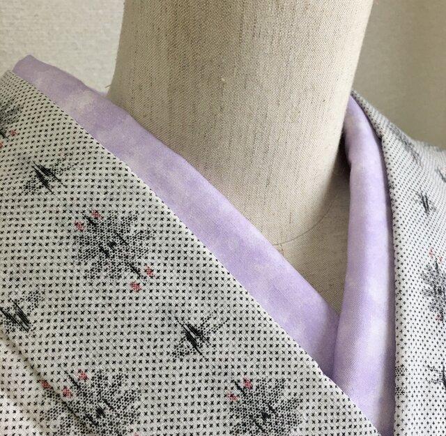 洗える半衿 薄紫色のむら染の画像1枚目
