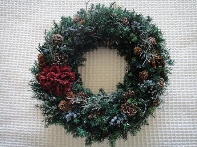 【☆2020クリスマス☆】クランベリーカーネのX'masリースの画像1枚目