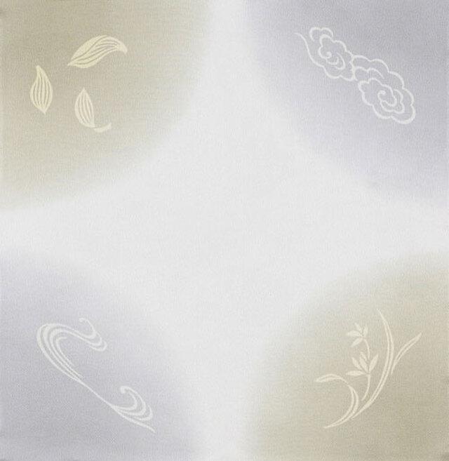 風呂敷 ふろしき    引染 天華文 グレー 正絹 絹100% 45cm×45cmの画像1枚目