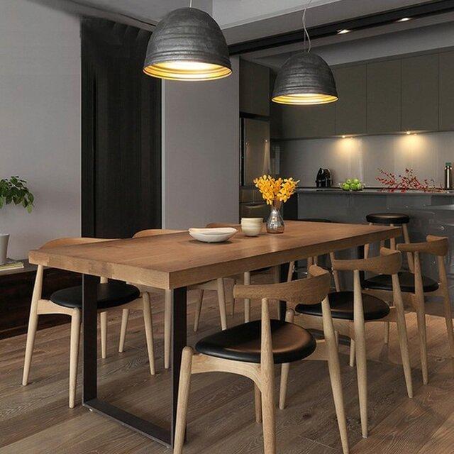 受注生産 職人手作り ダイニングテーブル テーブル 机 モダン 天然木 木目 家具 無垢材 オーク材 エコ LR2018の画像1枚目