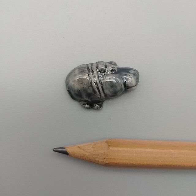 動物石 カバ(灰色)の画像1枚目