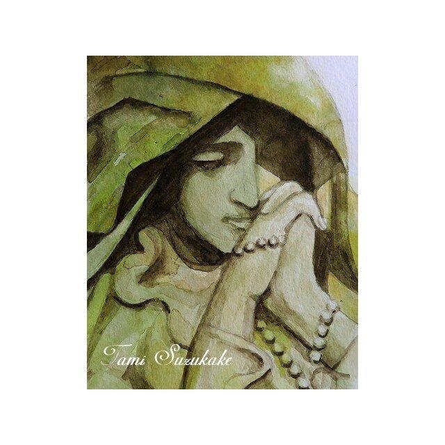 水彩画・原画「マリア像」の画像1枚目
