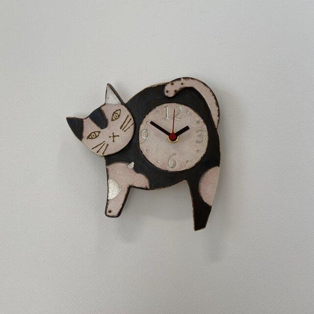 ねこ 掛け時計 (陶器) no.4の画像1枚目