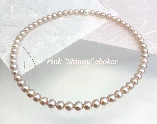 "Pink ""Shinny"" choker(ピンクシャイニーチョーカー)の画像1枚目"