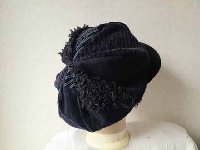 魅せる帽子☆ふんわり♪大きめグラデーションキャスケット~モノトーンの画像1枚目