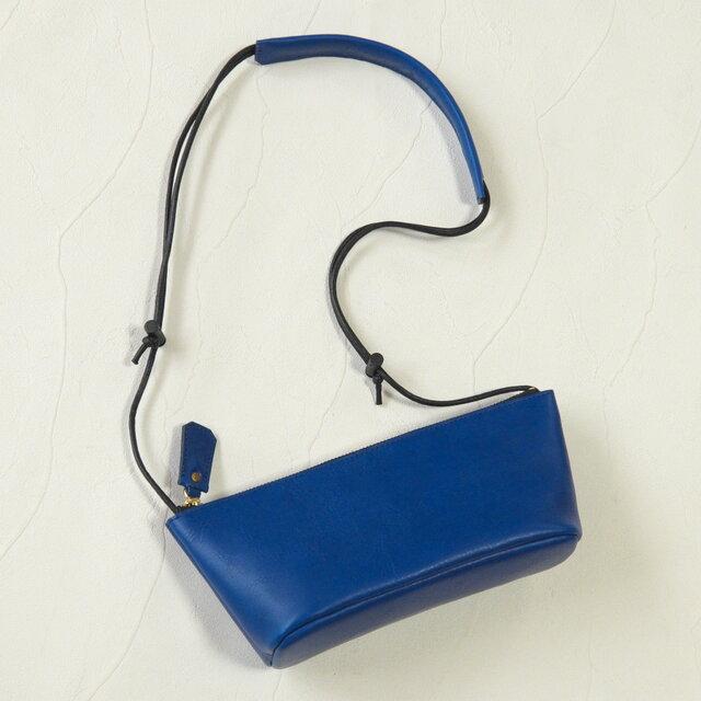 [受注生産]ストリングミニバッグ Blueの画像1枚目