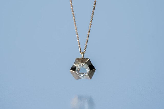 【ストック】Gazzara ダイヤモンド原石ペンダント / K18YGの画像1枚目