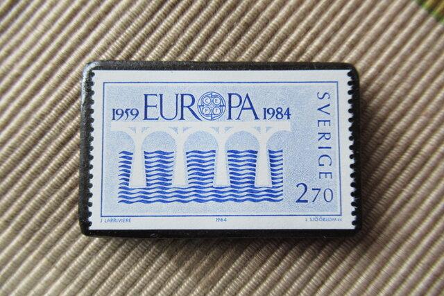 スウエーデン 切手ブローチ6726の画像1枚目
