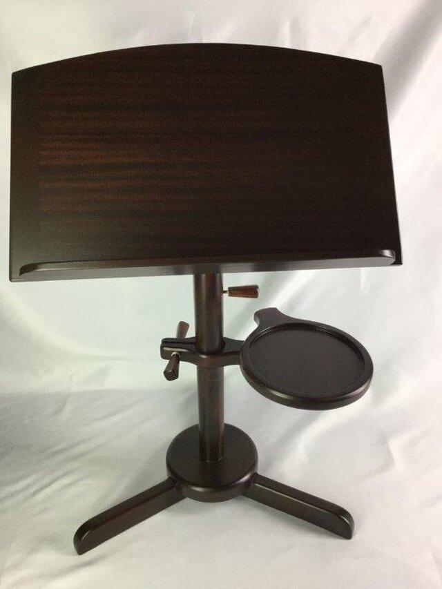 木製の譜面台・・・サイドテーブル付きの画像1枚目