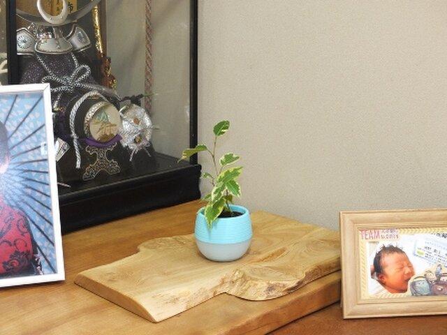 天然木花台・飾り台  No.15栗の天然木の画像1枚目