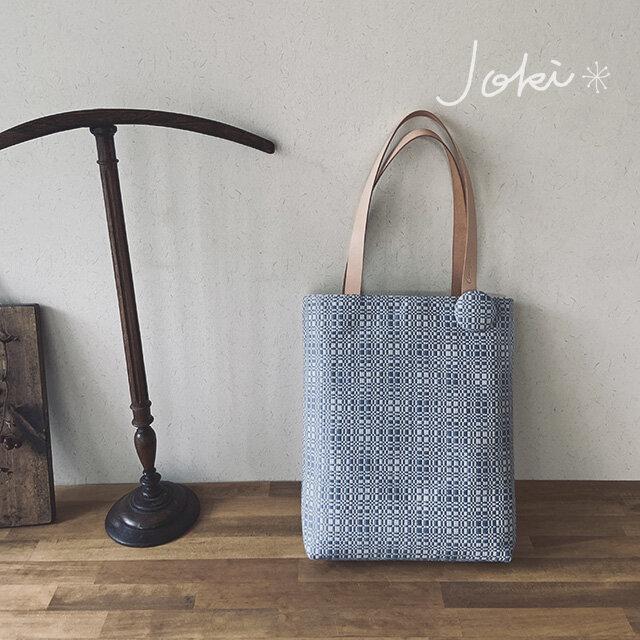 bag[手織り手提げバッグ]ライトブルーの画像1枚目