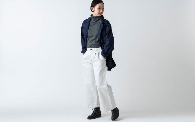 木間服装製作 / shirt navy / unisex 2sizeの画像1枚目