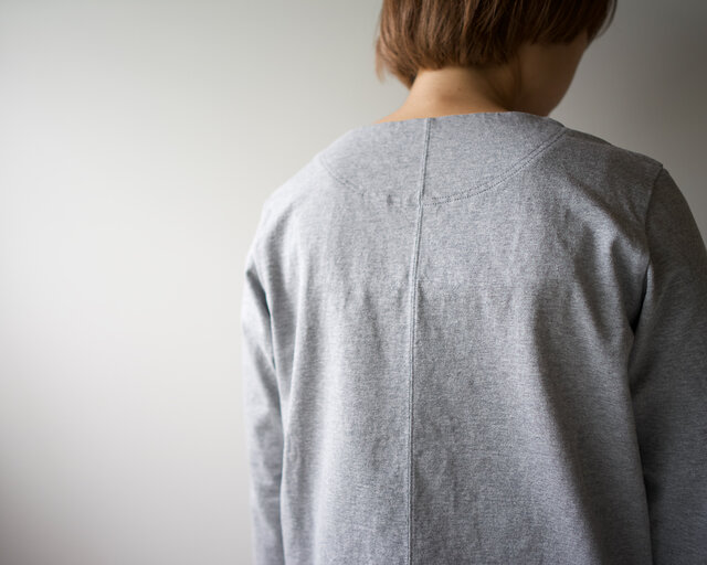 pablo cotton/center back long sleeve tshirt /gray/size1・2・ 3の画像1枚目