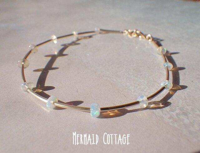 *14kgf*Opal Delight Gold Tube Braceletの画像1枚目
