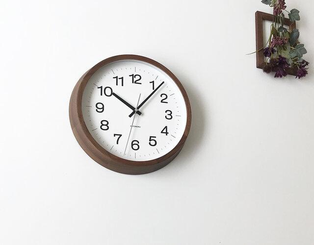 KATOMOKU muku round wall clock 16 L-size km-113WARC 電波時計の画像1枚目
