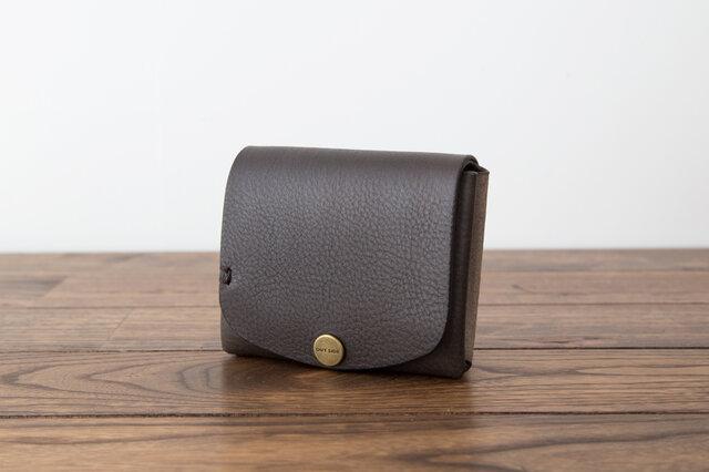 イタリア製牛革の二つ折り財布5 / グレー※受注製作の画像1枚目